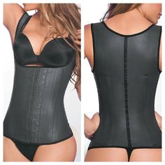 7cf2a683597 Sz 32 Ann Chery FULL Latex Vest Trainer Authentic Ann Chery  1 Selling  Brand from Colombia! Brand New FULL Vest w tags in BLACK