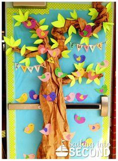 Ideas spring door decorations preschool valentines day for 2019 Preschool Door, Preschool Classroom, In Kindergarten, Preschool Crafts, School Door Decorations, Preschool Decorations, Class Door, Teacher Doors, School Doors