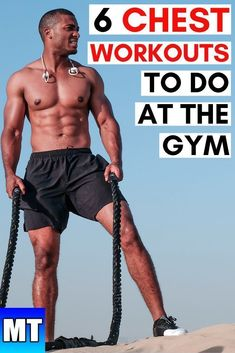 6 Chest Workouts to do at the Gym Chest Workout for Men Gym Muscle Exercise for Beginners and Upper Chest, Middle Chest, and Lower Chest at the Gym Fitness Body Men, Fitness Tips For Men, Muscle Fitness, Gym Fitness, Fitness Couples, Fitness Logo, Physical Fitness, Chest Workout For Men, Chest Workouts
