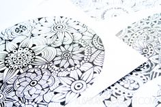 alisaburke: a couple of updates from the studio - Love her Zentangle patterns!!!