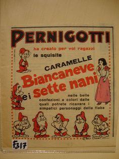 Caramelle Biancaneve e i 7 nani PERNIGOTTI 1963 - Pubblicità, advertising 63