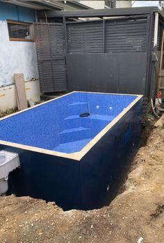 Diy Pool, Swimming Pools Backyard, Swimming Pool Designs, Garden Pool, Backyard Plan, Small Backyard Pools, Small Pools, Small Above Ground Pool, In Ground Pools