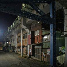 夜散歩のススメ「ガード下住居」神奈川県横浜市鶴見区