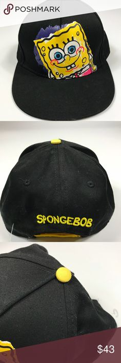 d31a5f9f4e1 Spongebob Squarepants Nickelodeon SnapBack Hat This hat is in overall good  used condition. Please view