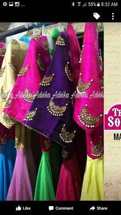 Kurti Patterns, Blouse Patterns, Blouse Designs, Dress Designs, Aari Work Blouse, Sari Blouse, Hand Embroidery, Embroidery Designs, Designer Dresses