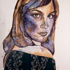 Image result for  face with mixed media patterns