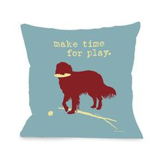 Make Time For Play Pillow now featured on Fab.