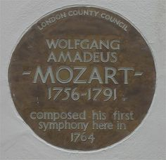 Plaque on the house at 180 Ebury Street, Pimlico, where the Mozarts stayed in the summer of Decoupage Tins, Amadeus Mozart, English Heritage, Opera Singers, Westminster, Classical Music, Art Blog, My Love, Signage