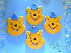 Diana's Dream Sweets: Winnie the Pooh First Birthday Cookies
