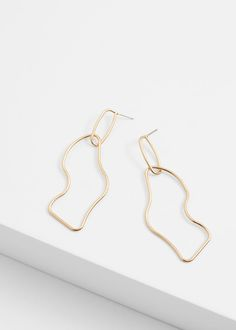Twisted hoop earrings - Jewellery for Women | MANGO USA