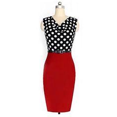 Polka rochie de puncte imprimare Yoki femei – USD $ 16.99