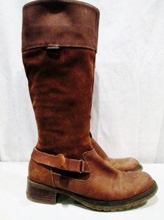 SONOMA CARLOTA Knee High Suede LEATHER Equestrian RIDER BOOT BROWN 8