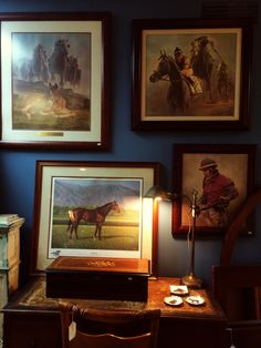 Limited & Signed Thoroughbred Prints by Artist Fred Stone. Vintage Limited Print of Alysheba.