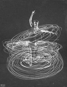 image mouvement avec des lignes qui montre quel geste les ballerine pose. j'Aime bien