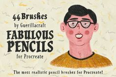 The most realistic pencil brushes for Procreate by #Guerillacraft