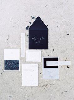 Minimalist suite - calligraphy: Kelsey Malie Calligraphy