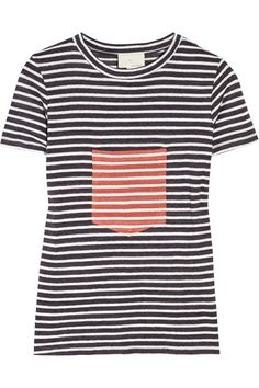 Boy by Band of Outsiders: Pocket-Detailed Striped Cotton-Jersey T-Shirt