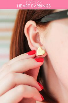 DIY Clay Heart Earrings