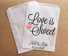 Wedding Candy Bags Buffet Etsy Favor Ideas Pinterest And