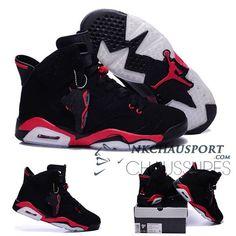 best sneakers 9e6f8 2290d Nike Air Jordan 6   Classique Chaussure De Basket Homme Noir Rouge-2