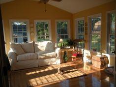 Sun Room Additions | New Sunroom, Sunroom addition built by my husband. 16 x 16, hardwood ...