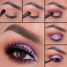 "using @Stilacosmetics ""Metallic Lilac"" Magnificent metals on lid"