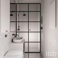 Greenery interior / Metro bathroom tiles / Subway bathroom tiles / Retro interior / Mid century design / Portfolio projektowanie wnętrz lublin | Czysta forma | Projektowanie wnętrz Lublin, Warszawa 80s Style, Double Vanity, Deco, Bathroom, Green, House, Washroom, Home, Full Bath
