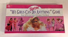 1991 BARBIE We Girls Can Do Anything Board Game Mattel Golden NOS Sealed 4761-25 #Mattel