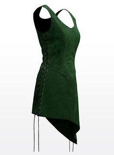 Green leather jerkin. Tauriel-ish