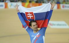Jozef Metelka of Slovakia celebrates after winning the Men's C4 4000m Individual Pursuit Track Cycling on day 3 of the Rio 2016 Paralympic Games at the Olympic Velodrome on September 10, 2016 in Rio de Janeiro, Brazil.