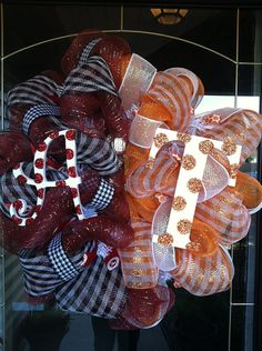 Deco Mesh Alabama and Tennessee House Divided Wreath by lilmaddy12, $85.00