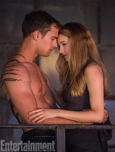 entertainment weekly divergent | Shailene Woodley and Theo James Cover Entertainment Weekly + NEW Four ..