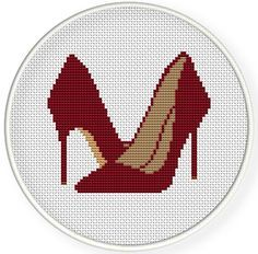 Instant Download,Free shipping,Cross stitch pattern, Cross-StitchPDF,Red high heel ,shoes,zxxc0115 by danceneedle on Etsy