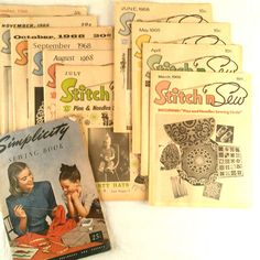 Vtg Lot 10 Stitch N Sew Magazines 1968 Simplicity Sewing Book 1947 Patterns Tips #Simplicity