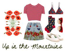 """""""Up in the Mountains"""" by kikiindianna on Polyvore featuring Dolce&Gabbana, Alessandra Rich, Gucci, Soludos and J.Crew"""