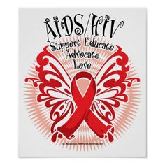 AIDS/HIV Butterfly 3 Poster