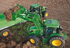 john deere tractors | new john deere 6125m tractor with frontloader