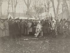 Untitled (Native Americans with representative of the French Army) by Museum of Photographic Arts Collections, Native American Tribes, Native American History, Native American Photography, Native Indian, Native Art, French Army, First Nations, Old Photos, Nativity