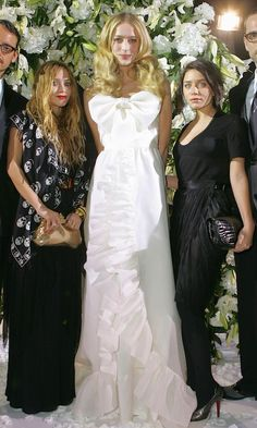 Mary-Kate & Ashley Olsen -- black dress inspiration & wedding dress inspiration