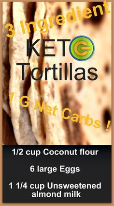 Coconut flour tortillas – Gluten free healthy recipes – Weight Loss Plans: Keto No Carb Low Carb Gluten-free Weightloss Desserts Snacks Smoothies Breakfast Dinner… Wrap Recipes For Lunch, Gluten Free Recipes For Breakfast, Healthy Gluten Free Recipes, Sugar Free Recipes, Diet Recipes, Paleo, Healthy Meals, Coconut Flour Tortillas, Keto Tortillas