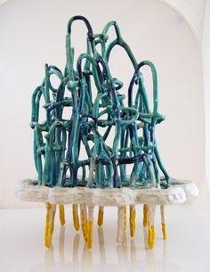 "Shannon Goff, Thunder & Lightning, Ceramic, 2010, 13"" x 13' x""17"" by TelegraphArt, via Flickr"