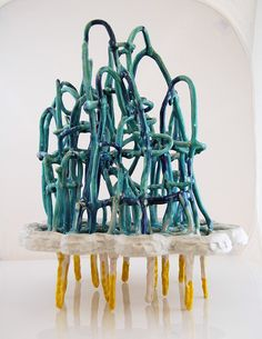 Shannon Goff; Glazed Ceramic 'Thunder & Lightning', 2010.