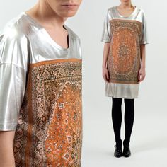 Unisex Silver Carpet Top by Future Sentiments - a Lithuanian designer duo who pretend to come from Amsterdam