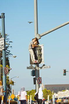 Kiss from above--Santa Monica by RJ Shaughnessy. The Kiss, True Love, My Love, Hopeless Romantic, Santa Monica, Photo Book, Couple Goals, Couple Pics, Girl Couple