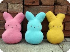 Marshmallow Bunny Plushies (with template)