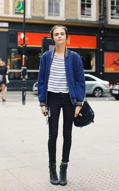 Models Off Duty: Cara Delevingne Street Style  http://bit.ly/1jiZxpG