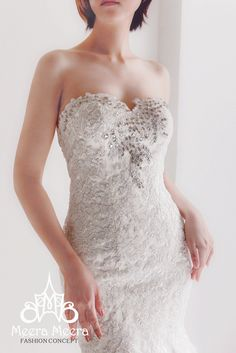Trumpet wedding dress. Code KH1791 Color: White, ivory  We use only the best quality materials! Boning/Bra cups are included