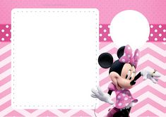 Pretty Minnie in Pink: Free Printable Party Invitations.