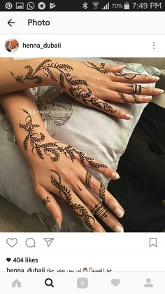 Mehndi Designs For Girls, Stylish Mehndi Designs, Best Mehndi Designs, Beautiful Henna Designs, Bridal Mehndi Designs, Henna Tattoo Hand, Henna Body Art, Henna Art, Henna Tattoos