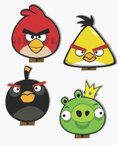 Angry Birds - 6 pças - Mini Totens em MDF 25cm | Ideias da Cuca